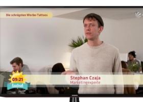 Ryanair Tattoo and its Marketing Effect – Sat1 Breakfast TV