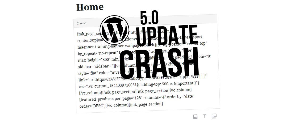 WPBakery Page Builder doesn't work anymore? WordPress 5.0 Update